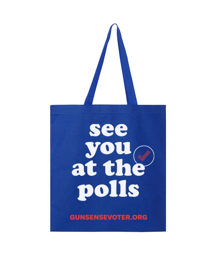 see you at the polls tote bag